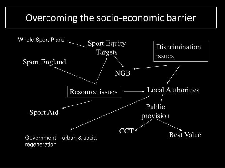 Overcoming the socio-economic barrier