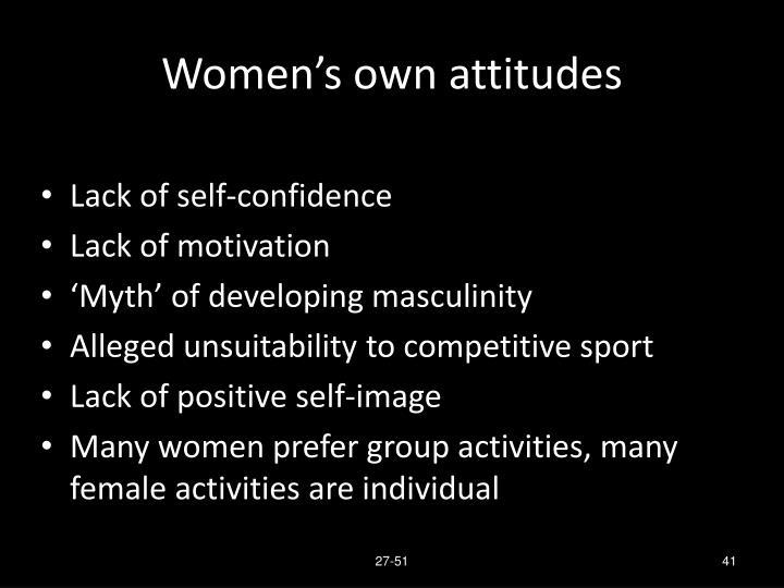 Women's own attitudes