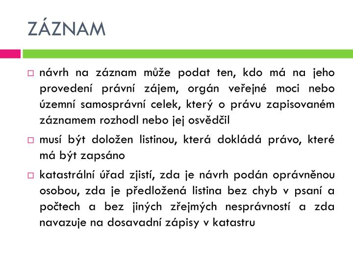 ZÁZNAM