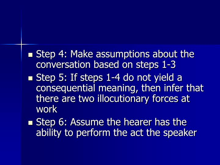 Step 4: Make assumptions about the conversation based on steps 1-3