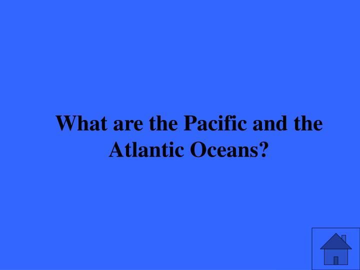What are the Pacific and the Atlantic Oceans?