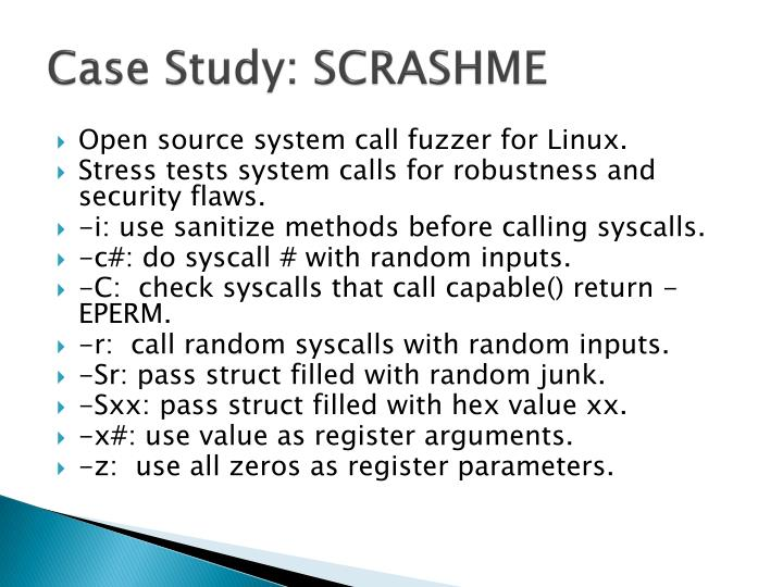 Case Study: SCRASHME