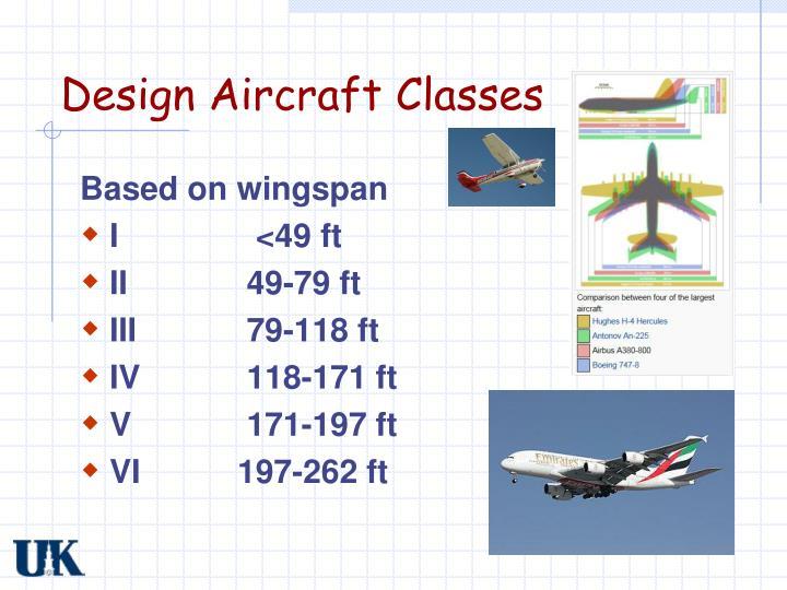 Design Aircraft Classes