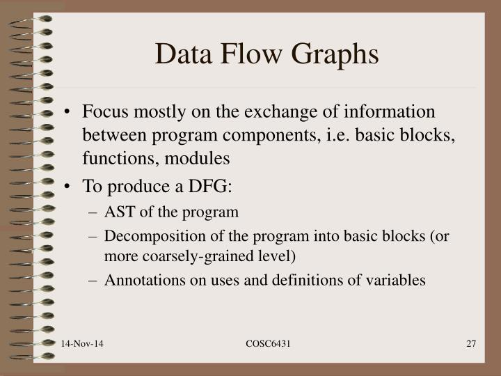 Data Flow Graphs