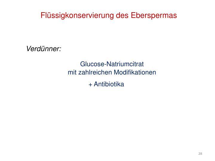 Flüssigkonservierung des Eberspermas