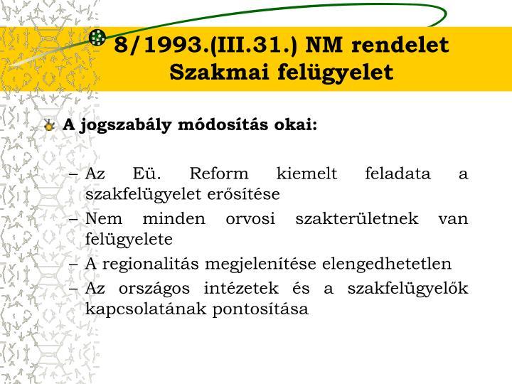 8/1993.(III.31.) NM rendelet