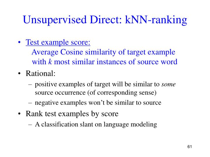 Unsupervised Direct: kNN-ranking