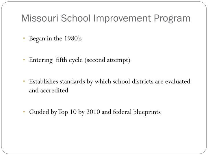 Missouri School Improvement Program
