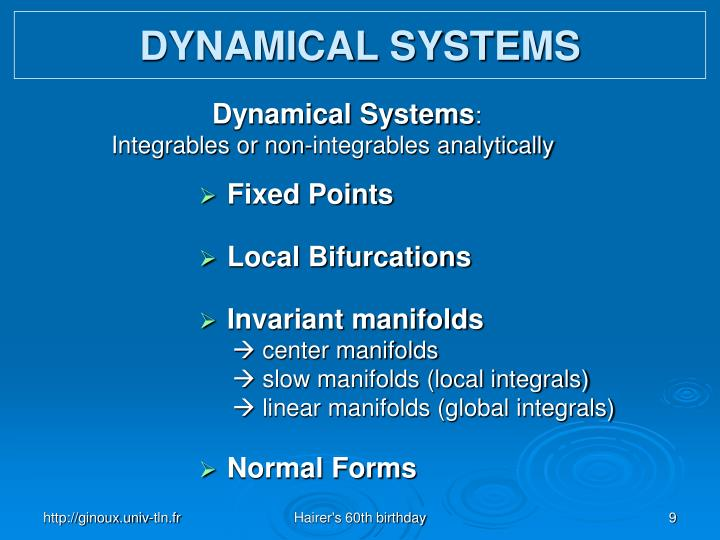 DYNAMICAL SYST