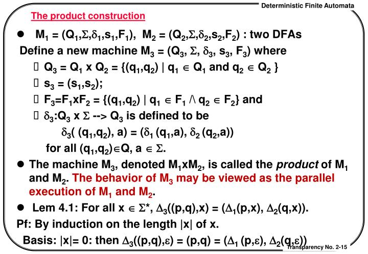 The product construction