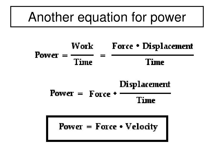 Another equation for power