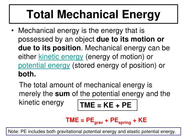 Total Mechanical Energy