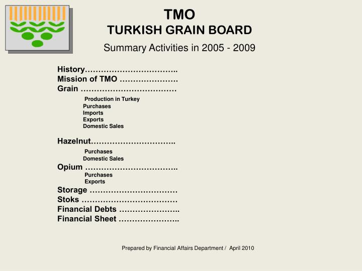 Tmo turkish grain board
