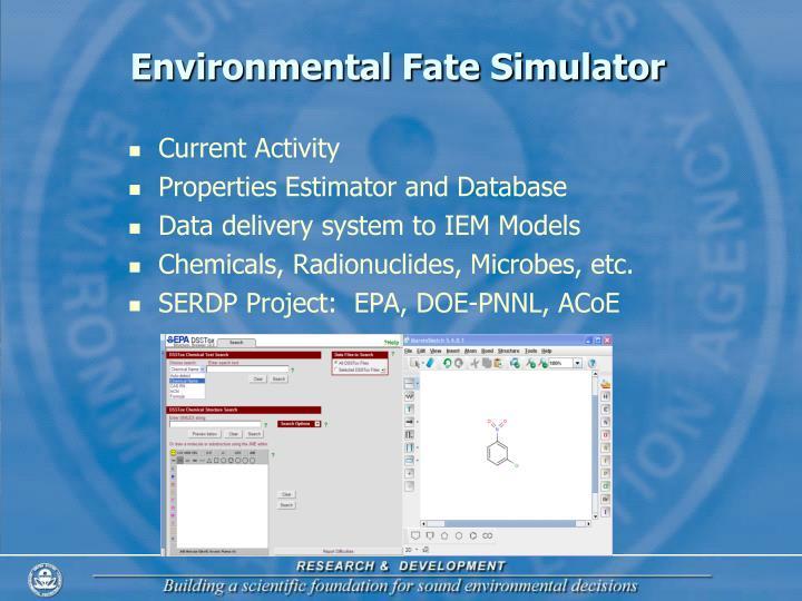 Environmental Fate Simulator