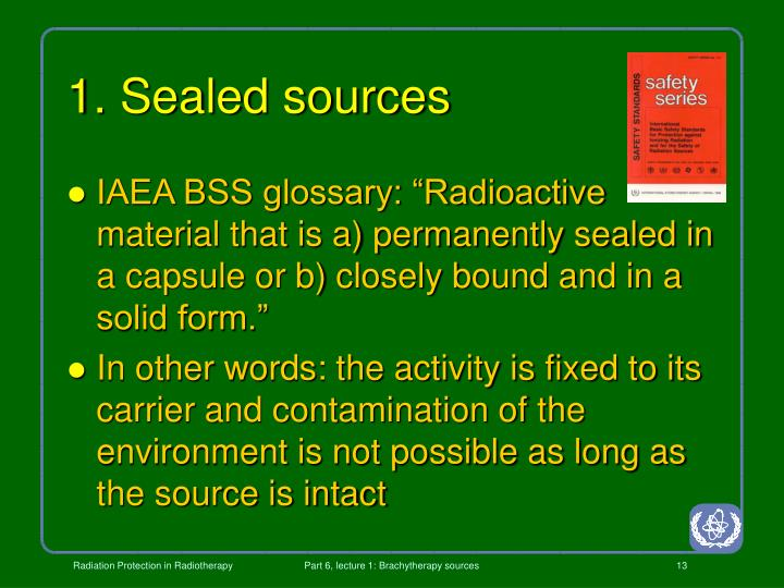 1. Sealed sources