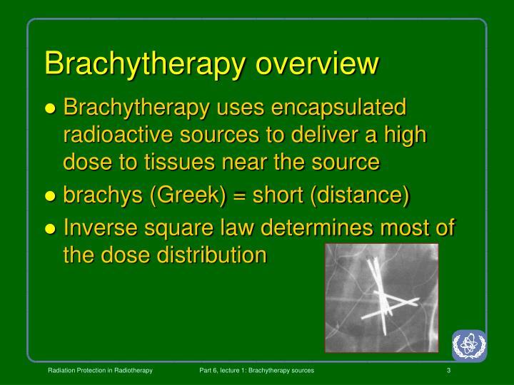 Brachytherapy overview
