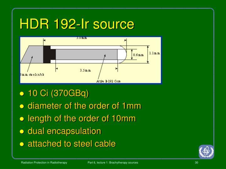 HDR 192-Ir source