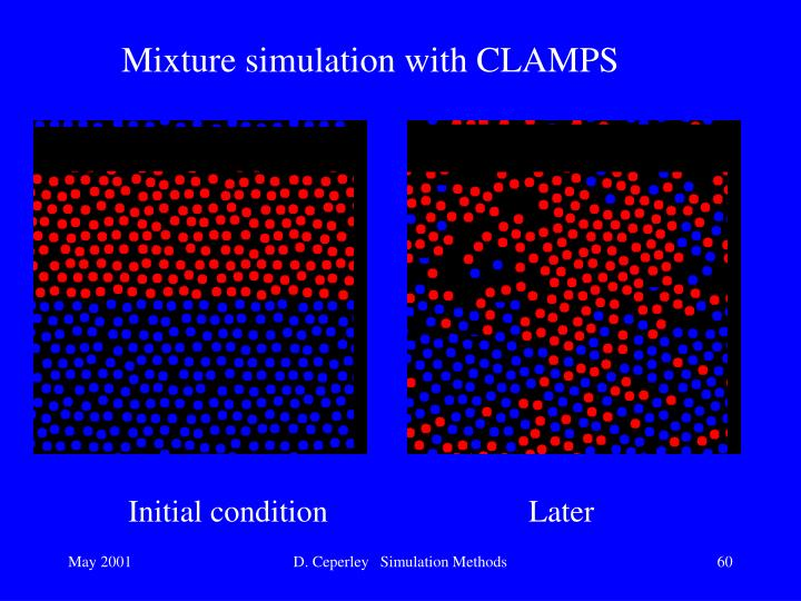 Mixture simulation with CLAMPS
