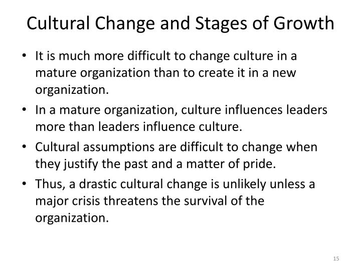Cultural Change and Stages of Growth