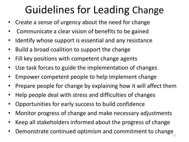Guidelines for Leading