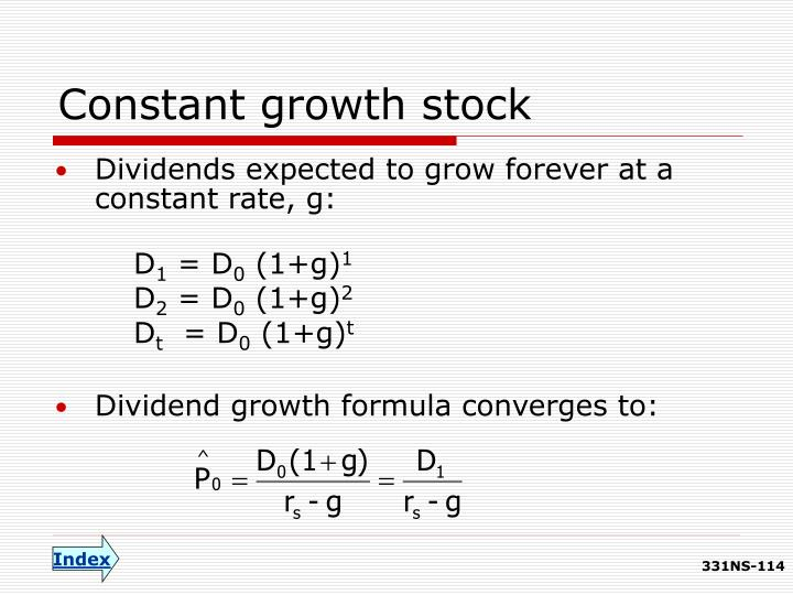Constant growth stock