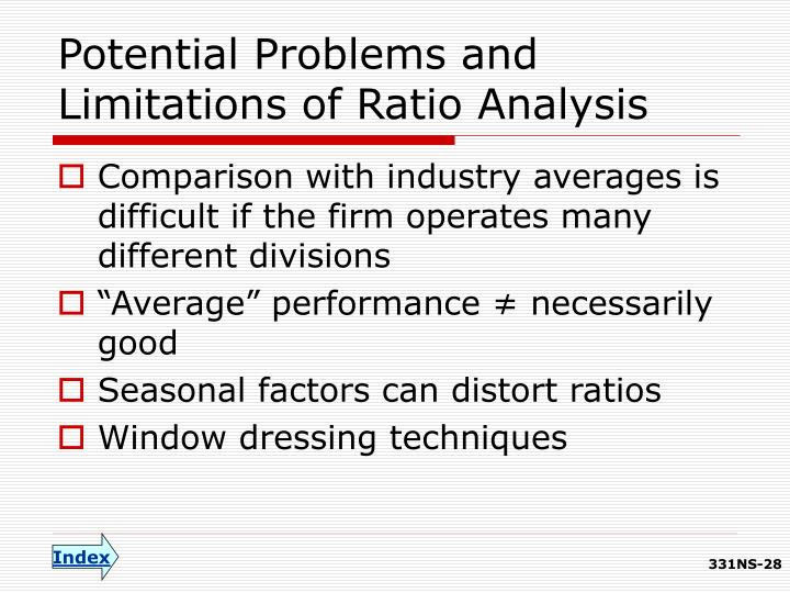 Potential Problems and Limitations of Ratio Analysis