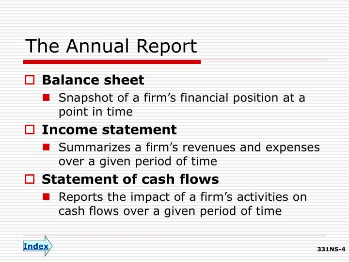 The Annual Report