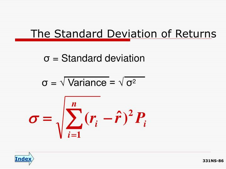 The Standard Deviation of Returns