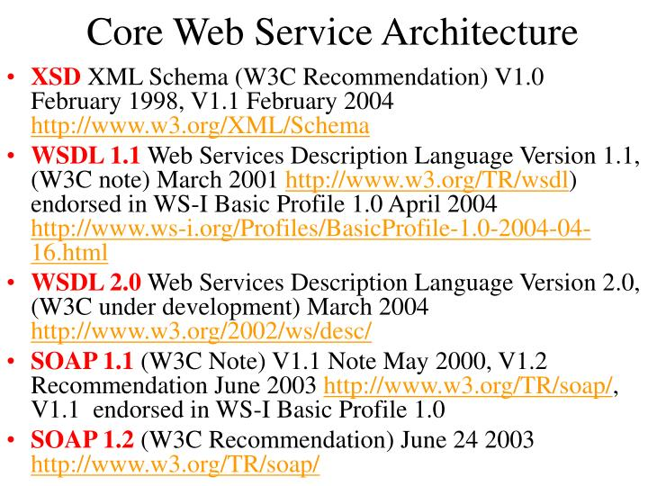Core Web Service Architecture