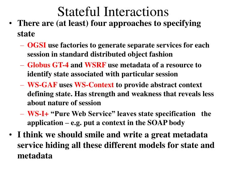 Stateful Interactions