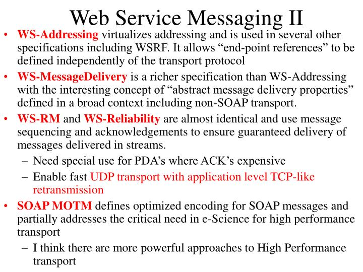 Web Service Messaging II