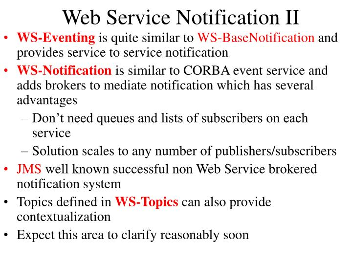 Web Service Notification II