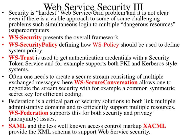 Web Service Security III