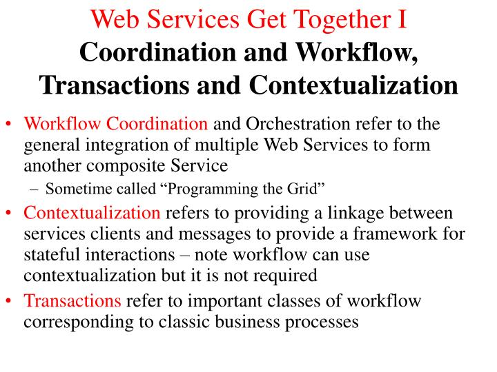 Web Services Get Together I