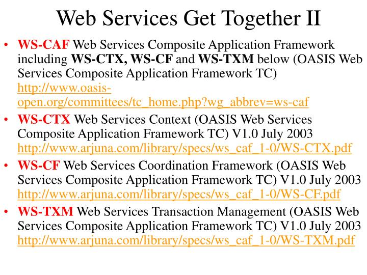 Web Services Get Together II