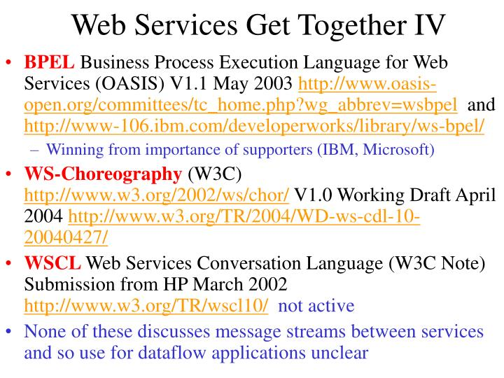 Web Services Get Together IV