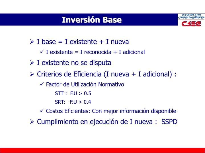 Inversión Base