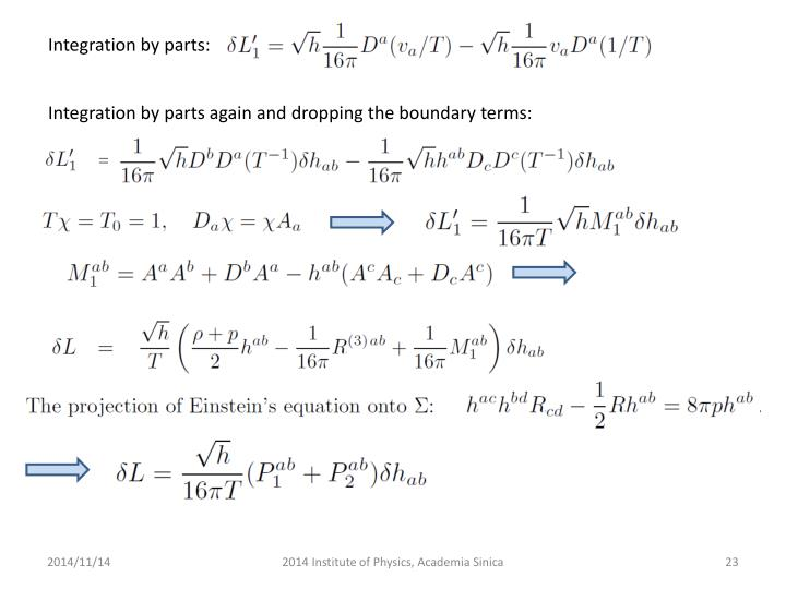 Integration by parts: