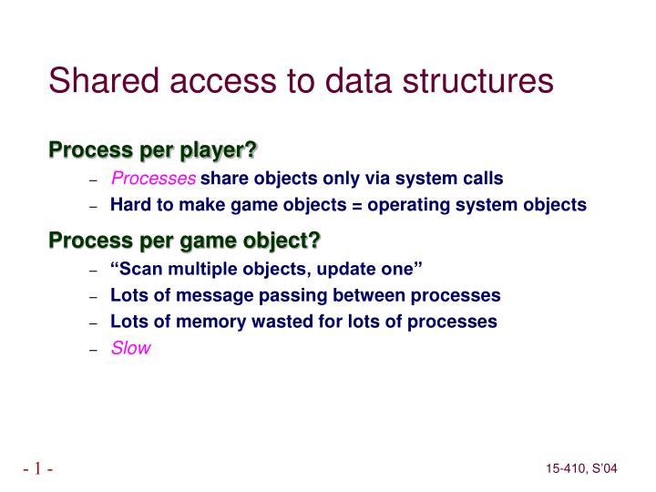 Shared access to data structures