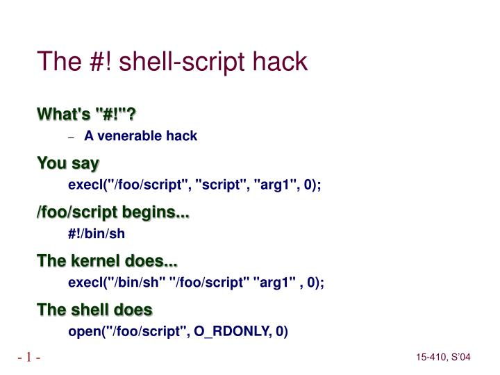 The #! shell-script hack