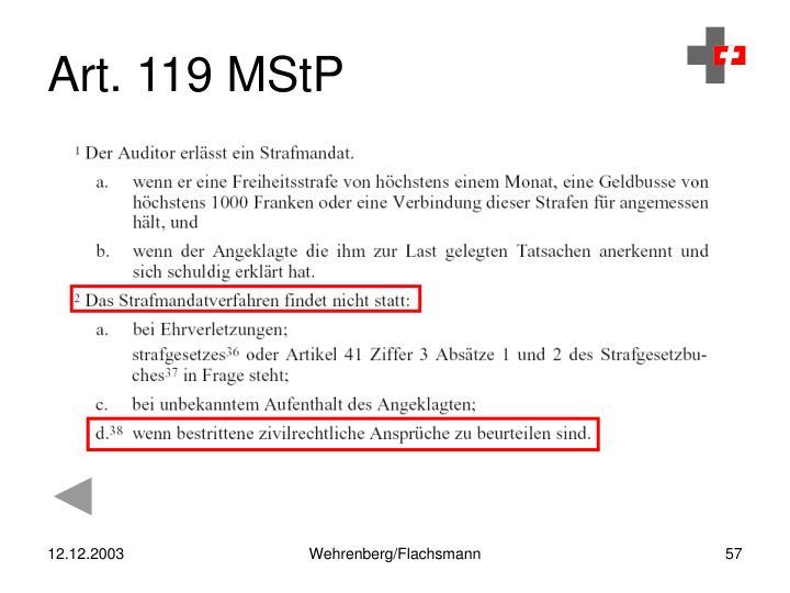 Art. 119 MStP