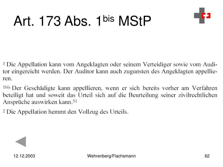 Art. 173 Abs. 1