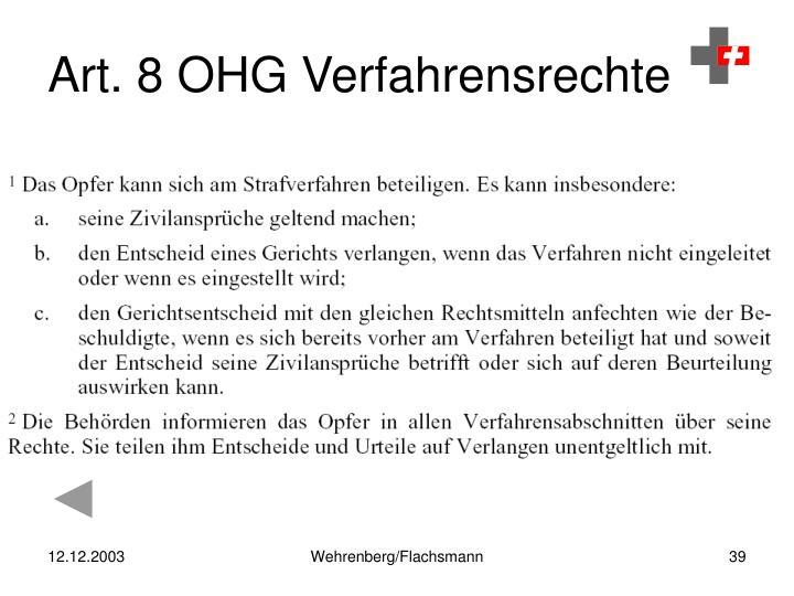 Art. 8 OHG Verfahrensrechte