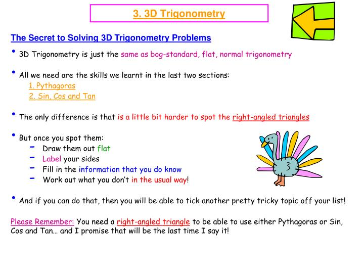 The Secret to Solving 3D Trigonometry Problems