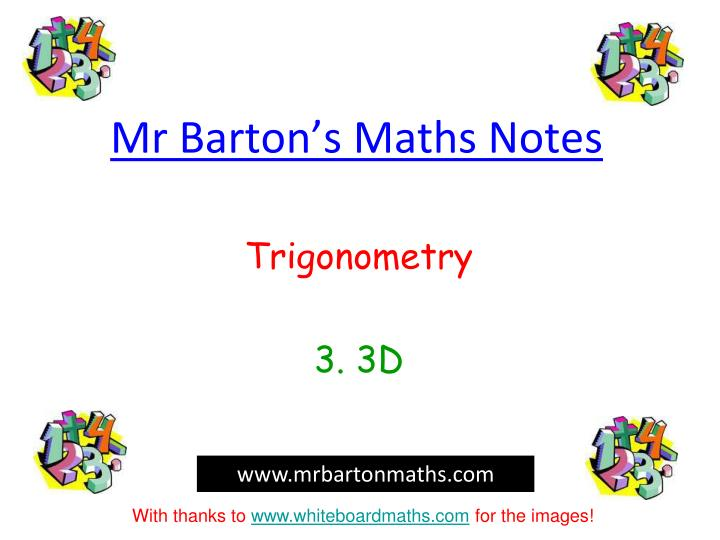 Mr barton s maths notes