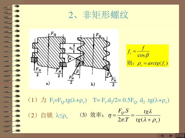 2、非矩形螺纹