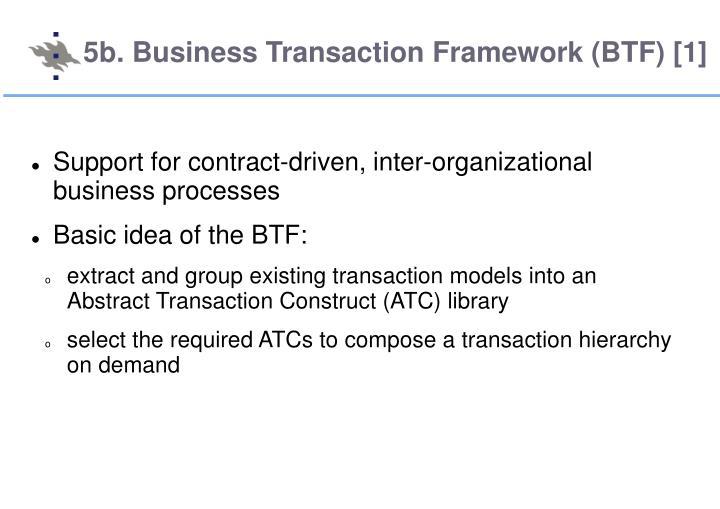 5b. Business Transaction Framework (BTF) [1]
