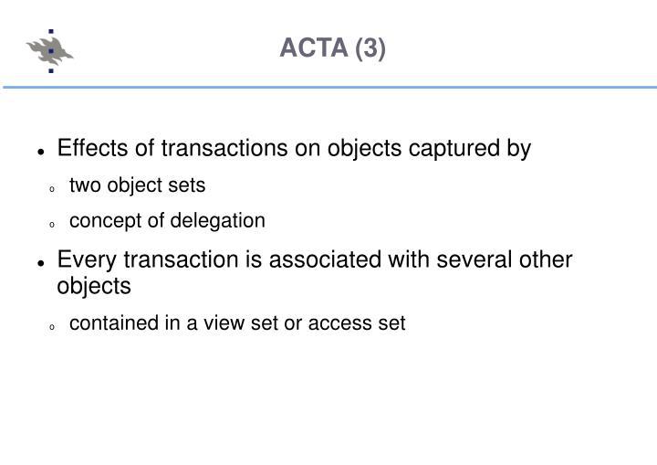 ACTA (3)
