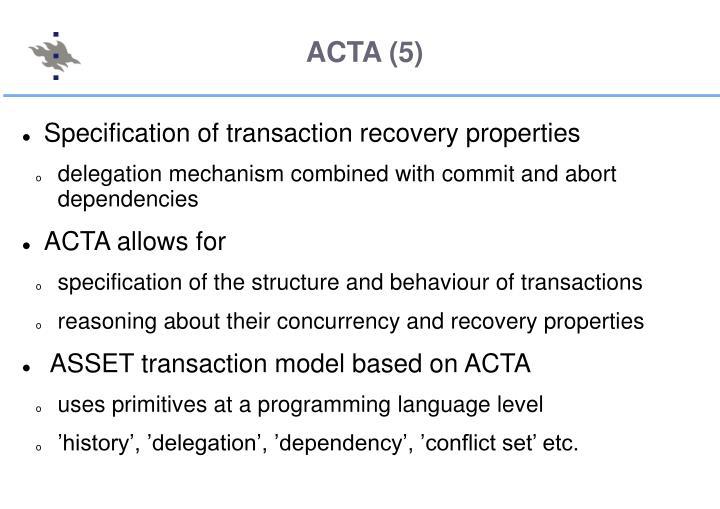 ACTA (5)