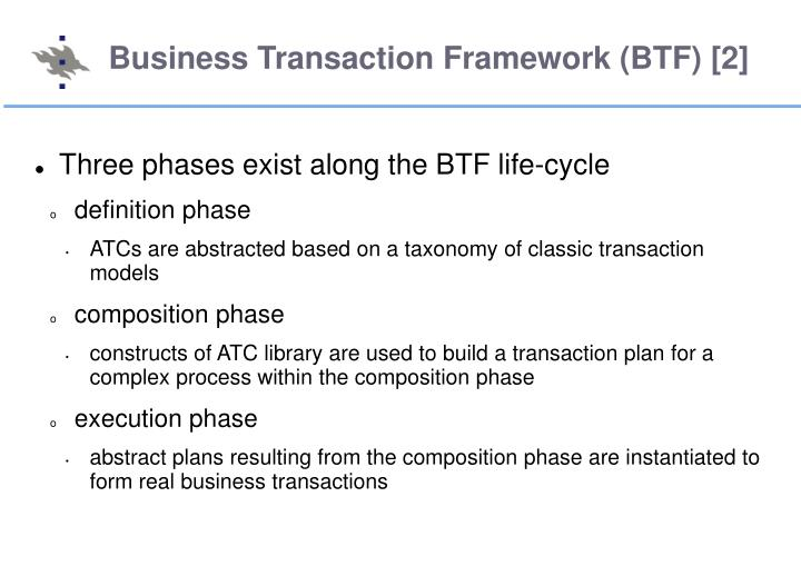 Business Transaction Framework (BTF) [2]